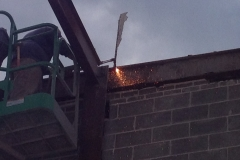 Raleigh-Mall-removing-top-beam