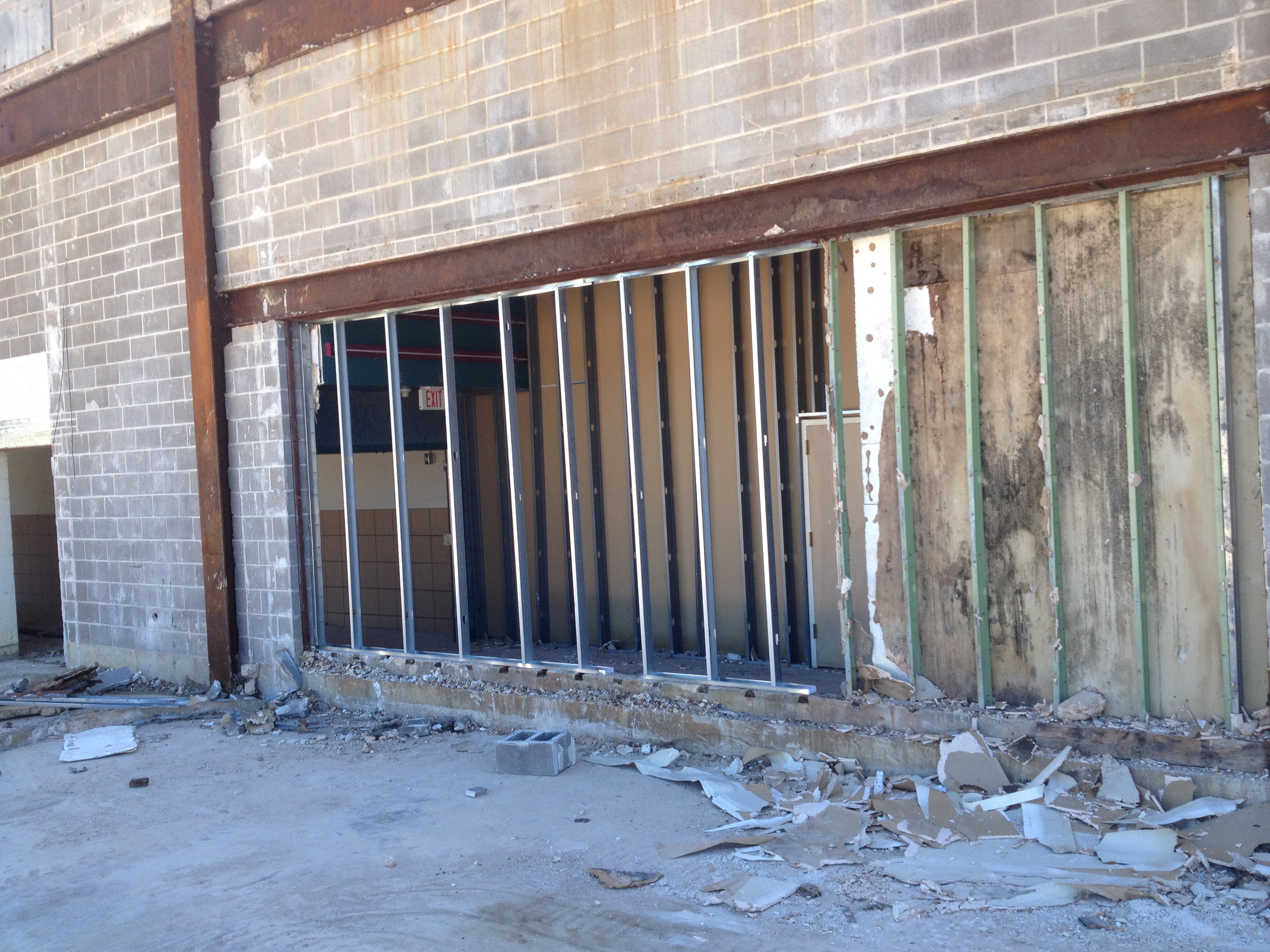 Raleigh-Mall-metal-studs-to-secure-building